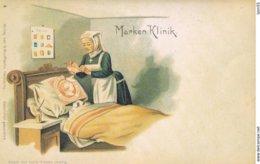 Marken Klinik (illustrateur Louis Glaser Leipzig) Réimpression Carte Ancienne - Timbres (représentations)
