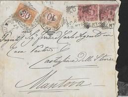 STORIA POSTALE REGNO - SEGNATASSE CIFRA CENT. 10+ 30 (SS 21+23) SU BUSTA INESTATA CAMERA DEI DEPUTATI DA ROMA 08.07.1897 - 1878-00 Humbert I.