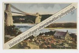 AJ41 Lllanfair, 2 Views - Menai Bridge And Church - Anglesey