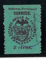 Colombie Cucuta N°1 - Oblitéré - Léger Aminci SinonTB - Colombia