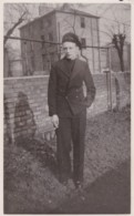 AN55 Photograph - Young Male In Uniform, Smoking A Cigarette - Anonymous Persons