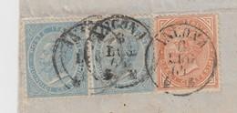LETTRE ITALIE. FRAGMENT. 8 LUG 64. 40c . PD. ANCONA PAR TORINO. ITALIE LANSLEBOURG. LYON TERREAUX   /  2 - 1861-78 Victor Emmanuel II.