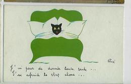 CP Illustrateur Signé RENÉ - Chat Humoristique - Trois Cartes Postales - Autres Illustrateurs