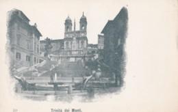 AP07 Trinita Dei Monti, Rome - Undivided Back, Vignette Postcard - Churches