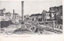 AP07 Roma, Foro Romano Con La Colonna Di Foca - Undivided Back Postcard - Roma (Rome)