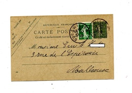 Carte Postale 15 C + Timbre Semeuse Cachet Guebwiller - Postal Stamped Stationery