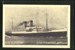 AK S/S Flandre, Cie. Gle. Transatlantique French Line, Passagierschiff Auf Dem Meer - Paquebote