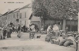 CPA:LE MARCHÉ FEMME LANDAU CHELLES (77).ÉCRITE - Chelles