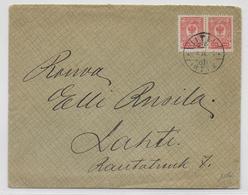 FINLANDE ADMINISTRATION RUSSE - 1913 - ENVELOPPE De LITTI / KAUSALA => LAHTI - Storia Postale