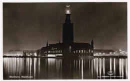 AL26 Stockholm, Stadshuset - RPPC, Nightview - Sweden