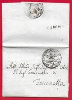 PREFILATELICA - PONTIFICIO - 1823 Cover Senza Testo Da TESSENNANO A TOSCANELLA - Timbro CANINO E Sigillo - 1. ...-1850 Prephilately