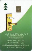 Ansar Hotels Chain Saudi Arabia -2478----key Card, Room Key, Schlusselkarte, Hotelkarte - Chiavi Elettroniche Di Alberghi