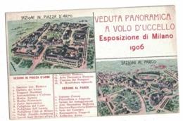 CARTOLINA PUBBLICITARIA Esposizione Di Milano 1906 - Au Bon Marché