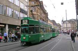 Bâle (Suisse)  Tramway De Bâle - 1er Juin 2010 – Ligne 14 - Rame N°501 (Be4/4 + B4S + B4) - Tranvía