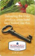 Boskovich-Quality-Vegetables-Booth--1402[2061]---key Card, Room Key, Schlusselkarte, Hotelkarte - Cartas De Hotels
