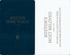 Boston Park Plaza-2471---key Card, Room Key, Schlusselkarte, Hotelkarte - Chiavi Elettroniche Di Alberghi