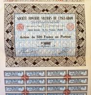 Société Foncière Villiers De L'Isle-Adam, Certificat Non émis - Tourisme