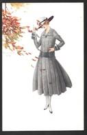 Cpa...illustrateur Italien..Monestier .C ...art Nouveau...mode...femme élégante Avec Chapeau... - Monestier, C.