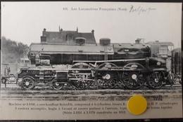 N°44) LES LOCOMOTIVES FRANCAISES -NORD N° 112 - Trains