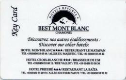 Hotels Resort Best Mont Blanc Chamonix -2480-key Card, Room Key, Schlusselkarte, Hotelkarte - Cartas De Hotels