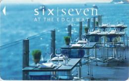 Six Seven At The Edgewater-2063-----key Card, Room Key, Schlusselkarte, Hotelkarte - Cartas De Hotels