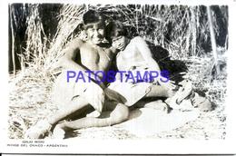 125416 ARGENTINA CHACO CENTRAL COSTUMES COUPLE NATIVE SEMI NUDE PHOTO NO POSTAL POSTCARD - Fotografie