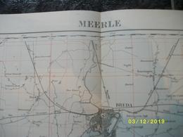 Topografische / Stafkaart Van Meerle (Breda Gilze Chaam Wildert Ginneken Bavel) - Cartes Topographiques