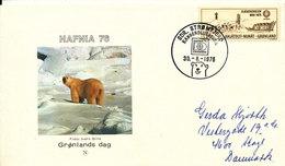Greenland Cover Hafnia 76 Sdr. Strömfjord 30-8-1976 (Hafnia Denmark Logo In The Postmark) - Brieven En Documenten