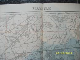 Topografische / Stafkaart Van Maerle - Maarle (Tilburg Berkel Oosterwijk Bokstel Best Oirschot Middelbeers) - Cartes Topographiques