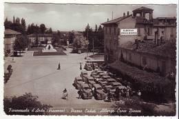CPSM - FIORENZUOLA D'ARDA (Piacenza) Piazza Caduti - Albergo Croce Bianca - Piacenza