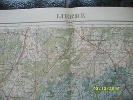 Topografische / Stafkaart Van Lier (Oelegem Zandhoven Wechelderzande Tielen Herentals Morkhoven Vorselaar) - Topographical Maps