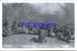 125420 ARGENTINA CHACO COSTUMES NATIVE UNA REUNION PHOTO NO POSTAL POSTCARD - Fotografie