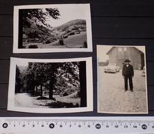 LOT 3 PHOTOS LE DONON GRANDFONTAINE Et VELLEDA Bas-Rhin En Août 1949 - Luoghi