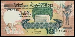 # # # Banknote Seychellen (Seychelles) Central Bank 10 Rupees UNC # # # - Seychellen