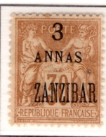 Ex Colonie Française  *  Zanzibar *  Poste  25  N* - Zanzibar (1894-1904)