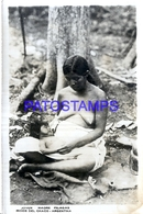 125423 ARGENTINA CHACO COSTUMES NATIVE WOMAN SEMI NUDE & BABY SPOTTED PHOTO NO POSTAL POSTCARD - Fotografie