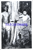 125425 ARGENTINA CHACO COSTUMES NATIVE SEMI NUDE COUPLE PHOTO NO POSTAL POSTCARD - Fotografie
