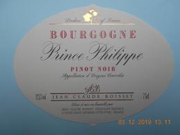 """Etiquette Neuve De Vin De  BOURGOGNE    """"  PINOT NOIR    """" - Bourgogne"""