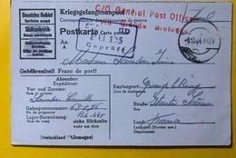 9537 - Correspondance Des Prisonniers De Guerre Territoire Occupé Haute Saône 8.10.1944 Stalag II D PÜ 135 - Guerres