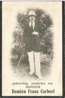 CORBEEL Domien Grondbeheerder  Uvira °1889 Rijmenam +1917 Luofu Belgisch Congo  Doodsprentje Image Mortuaire - Religion & Esotérisme