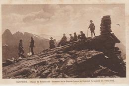 C. P. A. - DAUPHINE - MASSIF DE BELLEDONNE - SOMMET DE LA GRANDE LANCE DE DOMENE - LES TROIS PICS - ANIMÉE - P. G. - France
