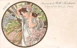 Illustrateur Alphonse MUCHA - Souvenir De La Belle Jardiniere - Mois De Juin - Parfait Etat - Mucha, Alphonse
