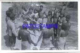 125432 ARGENTINA CHACO COSTUMES NATIVE INDIOS BAILANDO DANCER  PHOTO NO POSTAL POSTCARD - Fotografie