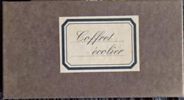Coffret Écolier - Support Bois - 1 Flacon D'encre + 1 Encrier Porcelaine + 1 Porte-Plume Avec Plume Métal . - Inkwells