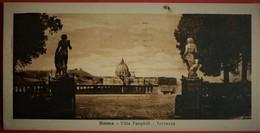 ROMA VILLA PANPHILI - TERRAZZA , MINI CARTOLINA , USATA 1923 - Parks & Gardens