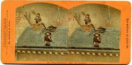 Photos Stéréoscopiques - Les Métiers En Plein Air - Le Ramoneur  N° 221 - D 182 - Stereoscopic