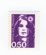 Briat 0.50 Fr Violet YT 2619 Avec Bande De Phosphore à Gauche . Pas Courant , Voir Le Scan . Cote Maury N° 2619a : 4 € . - Varieties: 1990-99 Mint/hinged