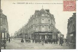 Cholet-L'Avenue Gambetta Et La Rue Nationale - Cholet