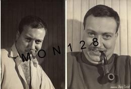 ACTEUR FRANCAIS YVES BARSACQ (1931-2015) - 2 PHOTOS DAISY SARRAT 13x18 Cms - Personalità