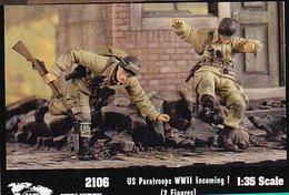 - VERLINDEN - Figurines US Paratroops  WWII Incoming ! ( 2 Figurines ) - 1/35°- Réf 2106 - Figurines